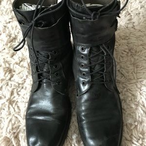 Kenneth Cole size 38 = 8 Riding Boot Combat Boot